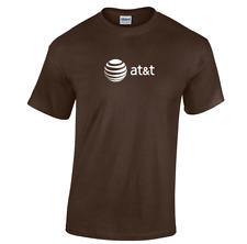 AT&T T-shirt 80s Vintage LOGO Funny GEEK Phone TEE Shirt Dark Chocolate Brown