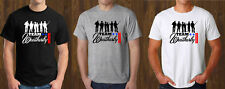 Team Weatherby Black T-Shirt Mens White Grey Tee Size S to 3XL