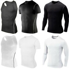 Men Compression  T-shirt Base Layer Short Long Sleeve Vest Tank Top Sport