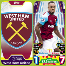Match Attax 17 18 West Ham United - Team Cards - Star Player - Club Badge
