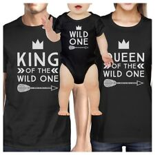 King Wild One Mens Black T-Shirt First Fathers Day Gift For New Dad