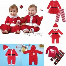 Xmas Newborn Baby Boy Girls Outfit Clothes Romper Jumpsuit Bodysuit Costume