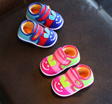 New Toddel Infant Boys Girls Casual Shoes Baby Warm Squeaky Shoes for Winter