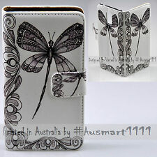For iPhone X 8 8 Plus - Dragonfly Print Flip Wallet Phone Case Cover