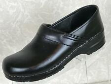 DANSKO Women's Black Leather Clogs Size 42/11-11.5 Professional Nursing Shoes