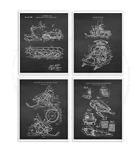 Vintage Snowmobile Unframed set of 4 Art Posters snowmobiling Wall Decor