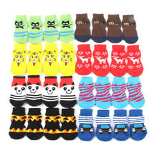 Small Pet Dog Cute Cartoon Socks Soft Warm Knitted Puppy Anti Slip Socks Clothes