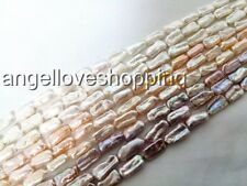 variation teeth genuined cultured freshwater pearl loose beads 8-18mm USA BY EUB