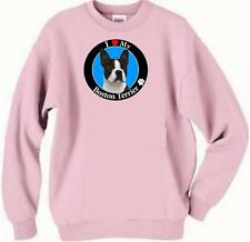 Dog Sweatshirt - I Love My Boston Terrier - Adopt Rescue T Shirt Available # 82