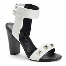 Rock Republic Women's Studded Dress Oaklee White Heels Sandals Sizes:8.5-9
