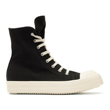 Rick Owens Drkshdw Black Embroidered High-Top Sneakers