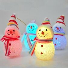 Color-Changing LED Light Snowman Santa Claus Christmas Tree Hanging Xmas Decor