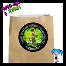 Ben 10 Party Favor Goody Bag STICKERS - Personalized Loot Bag Labels