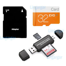 32GB Micro SD Card TF Flash Memory Micro SDHC Free Adapter for Phone Camera LOT