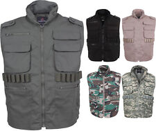 Camouflage Military Ranger Vest - Hooded Tactical Hunting Vest