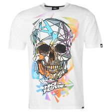 MENS WHITE NO FEAR SKULL MX MOTOCROSS DIRT BIKE SHORT SLEEVE TEE SHIRT TEE SHIRT