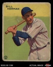 1933 Goudey #227 Billy Herman Cubs GOOD