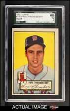 1952 Topps #376 Faye Throneberry Red Sox SGC 5 - EX