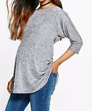 BNWT Boohoo Mothercare Classic Silver Shimmer Maternity Tunic Top UK 10 12 14
