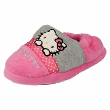 Hello Kitty 'Persian' Girls Pink/Grey Full House Slippers