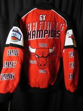 Chicago Bulls 6X Commerative Champion G-III Front Snap Jacket