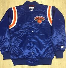 Exclusive: Authentic Starter New York Knicks NBA satin  jacket - Blue