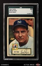 1952 Topps #48 Joe Page Red Back Correct Bio Yankees SGC 5 - EX