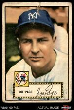 1952 Topps #48 Joe Page Red Back Correct Bio Yankees POOR