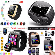 1xWaterproof Bluetooth Smart Watch SIM Phone Mate For IOS Iphone Samsung Android