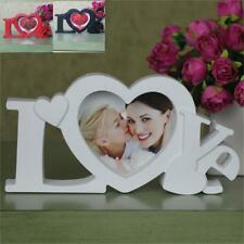 "Love Photo Frame White Heart Shape With Picture 4x4"" Frame For Baby Lovers Gift"