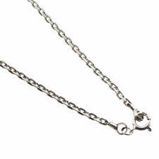 """16""""-28"""" 3mm 925 sterling silver cable Square chain link black oxidized necklace"""