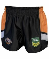 Wests Tigers NRL Mens Supporter Shorts BNWT Rugby League Clothing