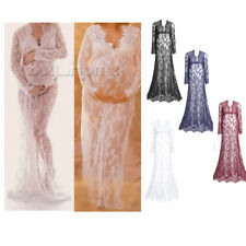 PLUS Gown Maternity Maxi Dress Wedding Party Dresses Photography Prop Clothes BH