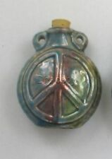 Raku Ceramic Peace Sign Bottle or Vessel, Choice of Lot Size & Price