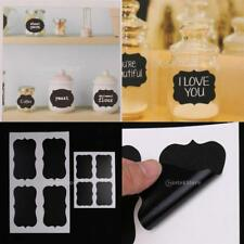 9 Sheets Assorted Chalkboard Stickers Removable Label Cup Jar Jam Stickers Decor