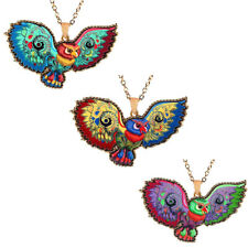 Jewelry Women Long Necklace Colorful 1 Pcs Acrylic Sweater Chain Pendant Owl