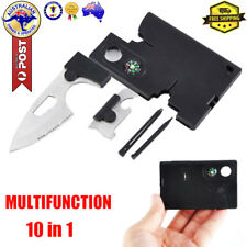 Outdoor Camping Survival 10 in 1 Multi Tool Pocket Credit Card Knife