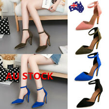 Women Laides Pointed Toe Stiletto High Heel Ankle Strap Sandals Party Pump Shoes