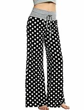 HOTOUCH Women Pajama Pants Plus Comfy Lounge Polka Dots Stretch Mix &