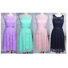 Women Lace Prom Floral Formal Evening Cocktail Party Bridesmaids Gown Dress 4-16