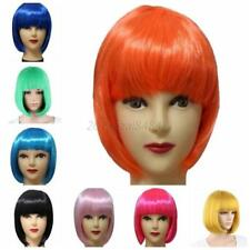 Fashion Women Sexy Full Bangs Wig Short Wig Straight BOB Hair Cosplay Party Wigs