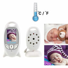 Wireless 2.4GHz Baby Monitor Audio Video Night Vision Security Camera LCD 2.0in