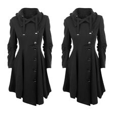 Winter Warm Elegant Windcoat Jacket Womens Long Slim Belt Trench Parka Outwear
