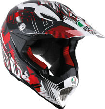 AGV AX-8 EVO Motocross/Offroad Motorcycle Helmet (White/Red) Choose Size