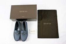 GUCCI GREY RUBBER HORSEBIT LOAFER DRIVING DRIVER SHOES USED 9/ BRAND NEW 11