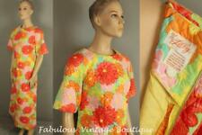 RARE Vtg THE LILLY Pulitzer Floral Quilted Cotton Long Maxi Caftan Hostess Dress