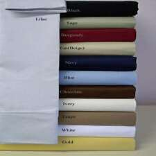 1000TC 100%Egyptian Cotton Duvet Set/Sheet Set/Fitted/Flat UK Sizes Solid Colors