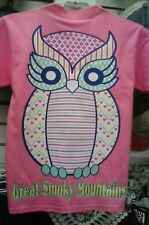OWL BIG HOOTER SMOKY MOUNTAIN T-SHIRT ~ OWL SMOKY MOUNTAIN SHIRT ~ SIZE SELECT
