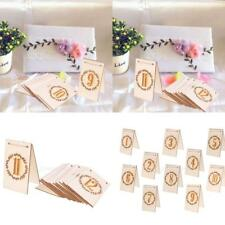 10x Vintage Wooden Table Place Card Freestanding Wedding Party Decoration