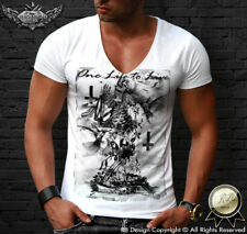 Skeleton Prayer T-shirt Mens Fashion Luxury Tee Shirt Designer Skull Top MD685 B